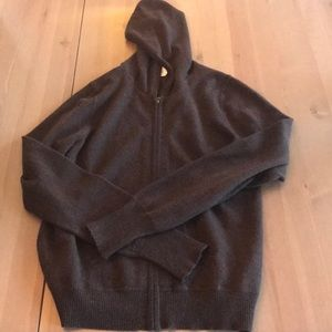 Jcrew cashmere hoodie chocolate brown